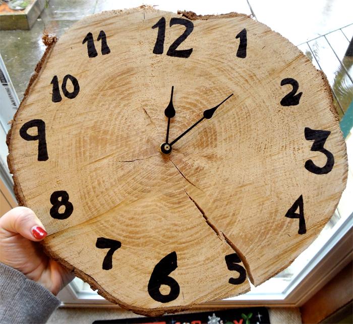 Часы оформленные своими руками