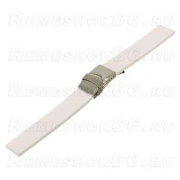 Ремешок для часов из каучука BC501-18 White