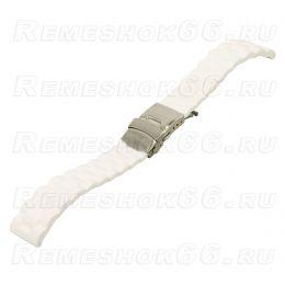 Ремешок для часов из каучука BC510-22 White