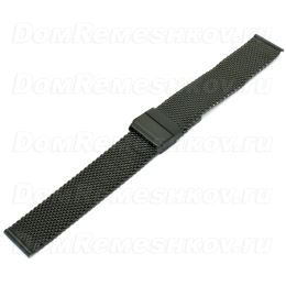 Браслет Inox Plus M-413-Black/18